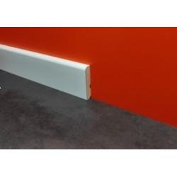 Rodapie modelo canto redondo y lacado blanco