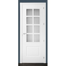 Puerta modelo 202 8V lacada blanca