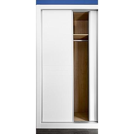 Puerta armario corredera modelo 5 lacada blanca rodapies for Puerta corredera blanca