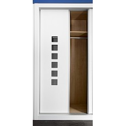Puerta armario corredera modelo 4 lacada blanca
