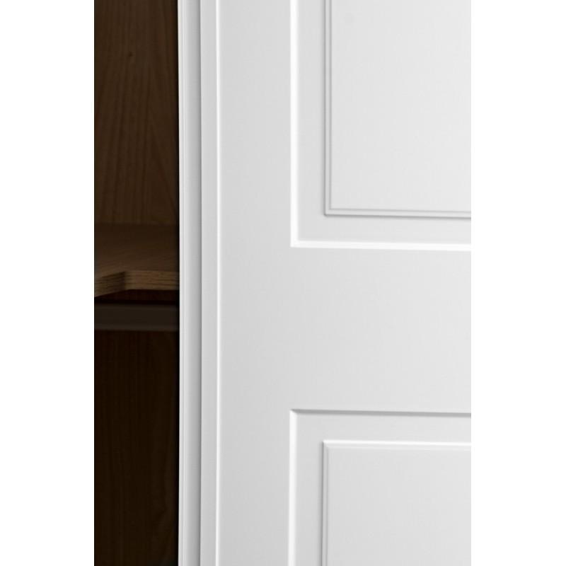 Puerta armario corredera modelo 2 lacada blanca rodapies for Puerta lacada blanca