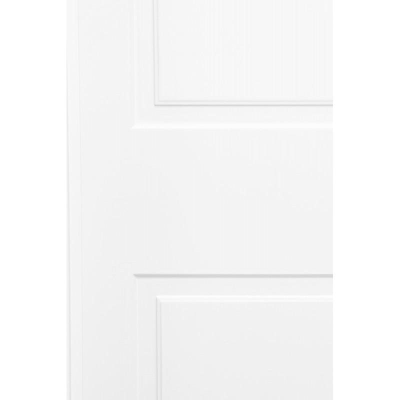 Puerta armario corredera modelo 1 lacada blanca rodapies for Puerta lacada blanca
